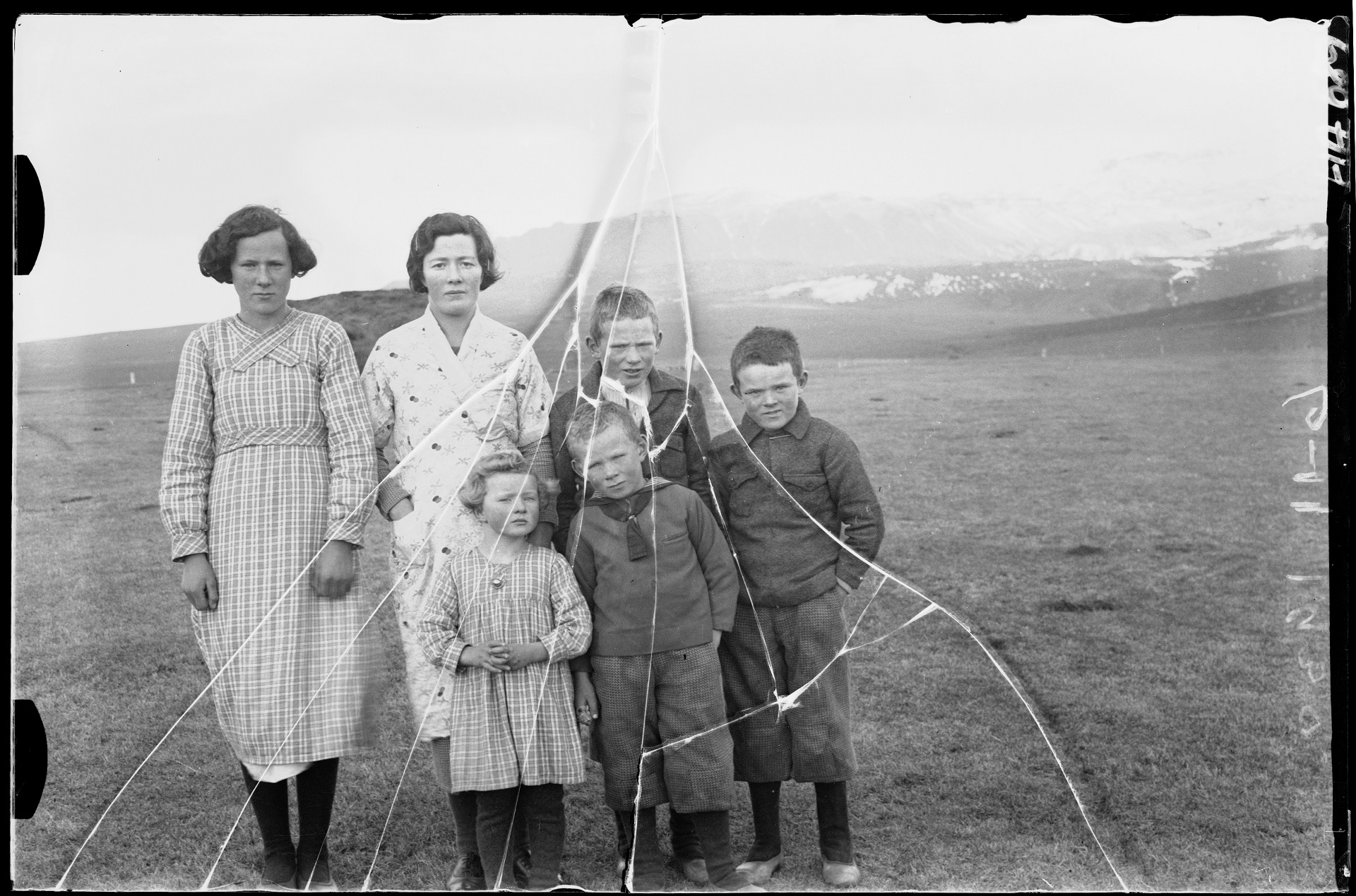 Inhabitants in Öræfi district. Photo: Helgi Arason, 1938.